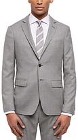 Jaeger Basketweave Wool Slim Suit Jacket, Grey