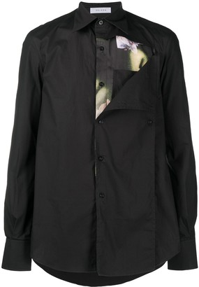 Delada Exposed Floral Lining Shirt