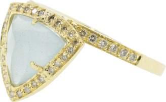 Jacquie Aiche Aquamarine and Diamond Pyramid Ring