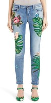 Dolce & Gabbana Women's Embroidered Skinny Jeans
