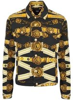 Versus By Versace Versus Versace Mens Iconic Belt Print Denim Jacket, /Gold