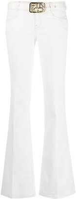 Pinko Belted Flared Jeans