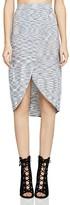 BCBGeneration Mélange-Knit Wrap Skirt