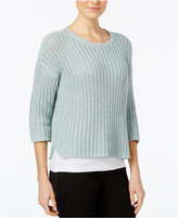 Eileen Fisher Organic Cotton Crew-Neck Sweater, Regular & Petite