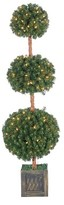 Williams-Sonoma Williams Sonoma Faux Lighted Potted Triple Ball Tree