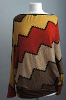 Sun & Moon Asymmetric Chevron Sweater