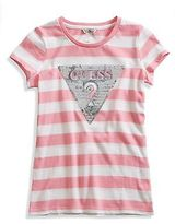 GUESS Beatrix Striped Logo Tee (4-16)