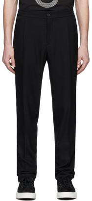 Salvatore Ferragamo Black Pique Trousers