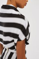 Boutique Sandwashed silk stripe top