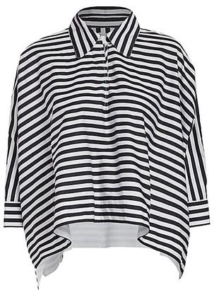 Rosetta Getty Striped Cropped Caftan Shirt