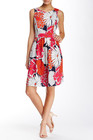 Eliza J-eliza j sleeveless floral fit flare dress