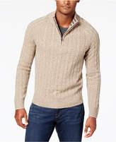 cable knit zip sweater men - ShopStyle