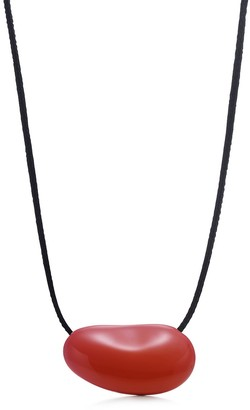 Tiffany & Co. Elsa Peretti Bean Design pendant in red lacquer over Japanese hardwood