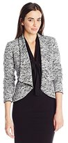 Calvin Klein Women's Open Jacket with Faux Leather Tipping