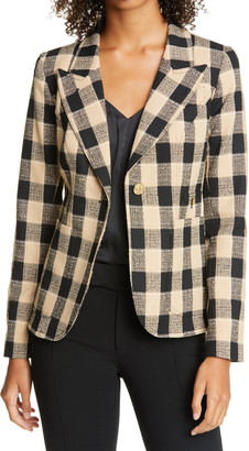 Smythe Duchess Plaid Cutaway Blazer