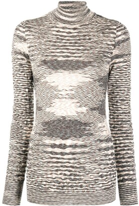 Missoni Roll-Neck Knitted Top