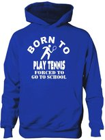 Print4u Born To Play Tennis Hoodie Boys Girls Kids Funny Present Gift Age 9-11