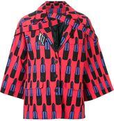 Kokon To Zai lipstick print oversized jacket