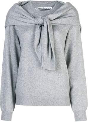 Alexander Wang knot shoulder knitted top
