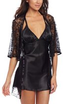 Dreamgirl Women's Satin Seduction Robe and Chemise