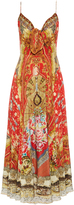 Camilla Cameos Dance-print silk-crepe dress