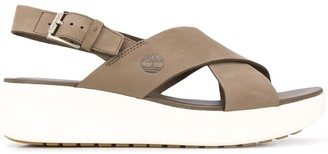 Timberland Slingback Cross Strap Sandals