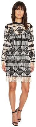 Nicole Miller Women's Soutache Sweaters Crew Neck Dress