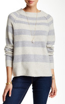 Free People Striped Crew Neck Sweater