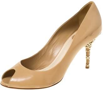 Christian Dior Beige Leather Heels