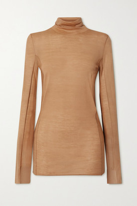 Joseph Merino Wool Turtleneck Sweater - Camel