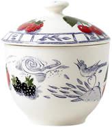 Gien Oiseau Sugar Bowl - Blue/White