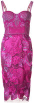 Marchesa floral dress - women - Nylon - 0