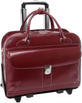 McKlein McKleinUSA Lakewood 15.4 Leather Fly-Through Checkpoint-Friendly Detachable -Wheeled Laptop Briefcase