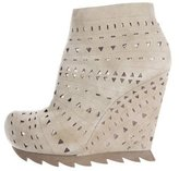 Camilla Skovgaard Laser Cut Wedge Booties