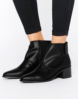 Asos Rephy Leather Ankle Boots