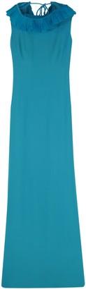 Alberta Ferretti Long Dress With Pleated Details
