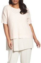 Eileen Fisher Plus Size Women's Organic Linen & Cotton Knit Top