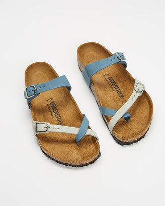 Birkenstock Women's Blue Flat Sandals - Mayari Regular - Women's - Size 38 at The Iconic