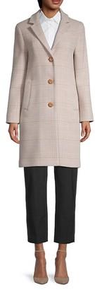 Cinzia Rocca Plaid Wool-Blend Coat
