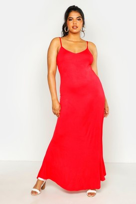 boohoo Plus Basic Swing Maxi Dress