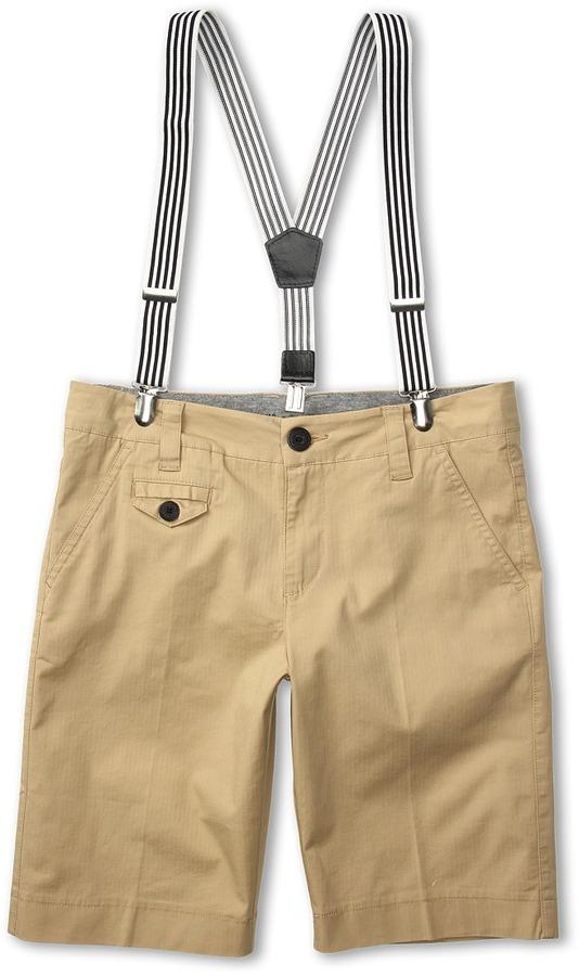 Primigi Cotton Shorts w/ Suspenders (Toddler/Little Kids/Big Kids) (White) - Apparel