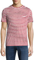 7 For All Mankind Men's Tie-Dye Stripe Tee