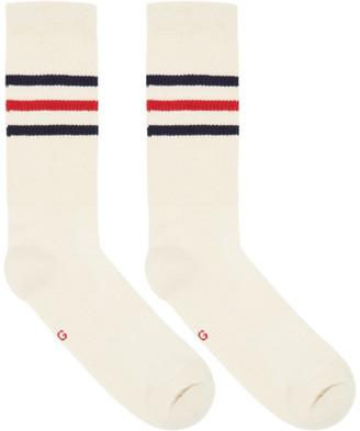 Gucci Off-White Striped Logo Socks