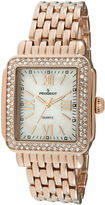 Peugeot Womens Crystal-Accent Rose-Tone Panther-Link Bracelet Watch