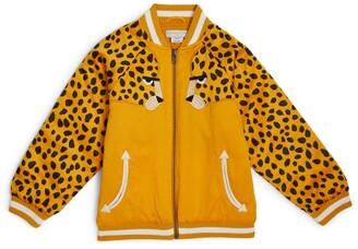 Stella McCartney Kids Satin Cheetah Bomber Jacket (3-14 Years)