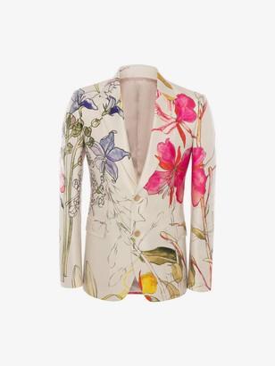 Alexander McQueen Deconstructed Floral Jacket