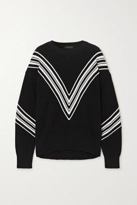 Rag & Bone Alps Striped Cotton Sweater - Black