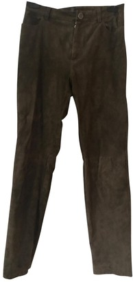 STOULS Brown Suede Trousers