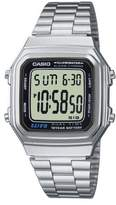 Casio Unisex Collection Digital Watch with Stainless Steel Bracelet A178WEA-1AES