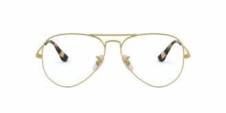 Ray-Ban Women's 0RX6489 Metal Pilot Optical Non Polarized Aviator Prescription Eyewear Frames